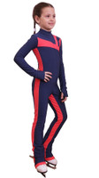 IceDress - Figure Skating Training Overalls -  Rays (Blue and Coral)