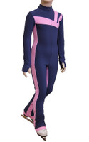 IceDress - Figure Skating Training Overalls -  Rays (Blue and Pink)