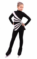 IceDress Figure Skating Dress-Thermal -  Oriental 3 (Black and White)