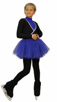 IceDress Figure Skating Outfit - Thermal - Fuete (Black, Blue)
