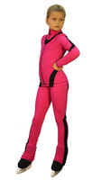 IceDress Figure Skating Outfit - Thermal -Flip (Fuchsia with Black Line)
