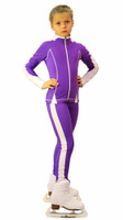 IceDress Figure Skating Outfit - Thermal -Bracket  (Violet with White Line)