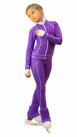 IceDress Figure Skating Outfit - Thermal -Todes(Purple with White Line)