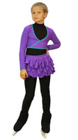 IceDress Figure Skating Outfit - Thermal - Butterfly (Purple)
