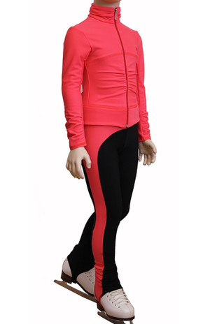 IceDress Figure Skating Outfit - Thermal - Drape-2 (Coral)