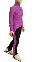 IceDress Figure Skating Outfit - Thermal - Drape-2 (Purple)