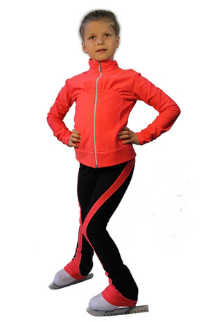 IceDress Figure Skating Outfit - Thermal - Drape-3 (Coral)