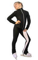 IceDress Figure Skating Outfit - Thermal - Twizzle-8 (Black)