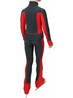 IceDress Figure Skating Outfit - Thermal - Squares (Red)