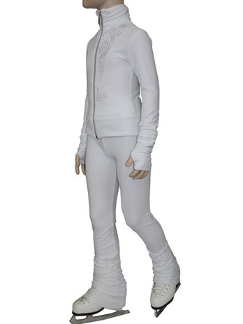 IceDress Figure Skating Outfit - Thermal - Drape (White)
