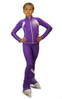IceDress Figure Skating Jacket -Euler (Purple and White)
