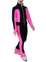 IceDress Figure Skating Jacket - Squares (Pink)