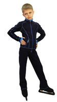 IceDress Figure Skating Jacket - Todes for Boys (Dark Blue with Blue Line)