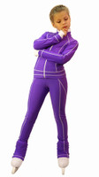 IceDress Figure Skating Jacket -Todes(Purple with White Line)