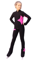 IceDress Figure Skating Outfit - Thermal - Star (Black witn Pink)