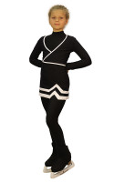 IceDress - Figure Skating Skirt s -Line (Black and White)