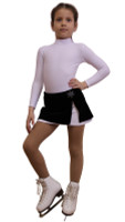 IceDress - Figure Skating Skirt s -  Rogue (Black and White with velvet)
