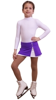 IceDress - Figure Skating Skirt s -  Rogue (Purple and White)