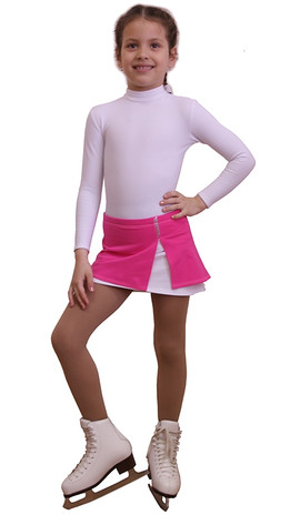 IceDress - Figure Skating Skirt s -  Rogue (Pink and White)