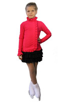 IceDress Figure Skating Outfit - Thermal - Valley (Raspberry and Black)