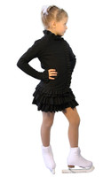 IceDress Figure Skating Outfit - Thermal - Valley ((Black))