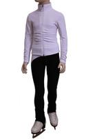 IceDress Figure Skating Pants - Drape-2 (White)