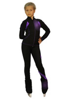 IceDress Figure Skating Pants -Euler (Black and Purple)