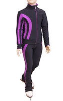 IceDress Figure Skating Pants - Lutz (Gray and Purple)