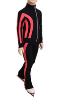 IceDress Figure Skating Pants - Lutz (Black and Coral)