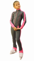 IceDress Figure Skating Jacket -Bracket (Grey with Pink Line)
