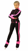 IceDress Figure Skating Jacket -Bracket (Black with Pink Line)