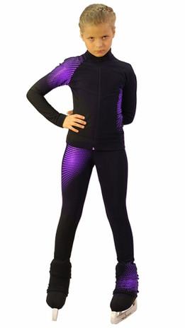 IceDress Figure Skating pants -Disco (Black and Violet)