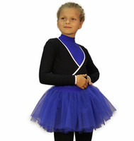 IceDress - Figure Skating Skirt s -  Tutu ( Cornflower blue)