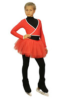 IceDress - Figure Skating Skirt s -  Tutu (Red)