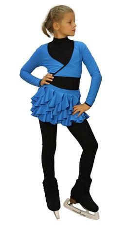 IceDress - Figure Skating Skirt s -  Butterfly (Blue)