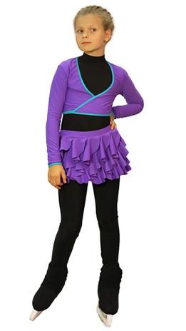 IceDress - Figure Skating Skirt s -  Butterfly (Purple)