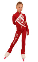 IceDress Figure Skating Outfit - Thermal - IceDress (Red with White)
