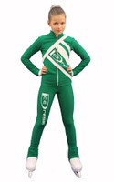 IceDress Figure Skating Outfit - Thermal - IceDress (Green with White)