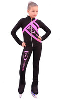 IceDress Figure Skating Outfit - Thermal - IceDress (Black  with Pink)