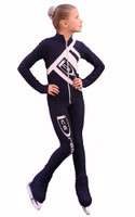 IceDress Figure Skating Outfit - Thermal - IceDress (Dark Gray with White)