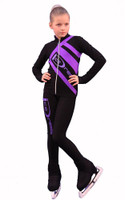 IceDress Figure Skating Outfit - Thermal - IceDress (Black with Purple)