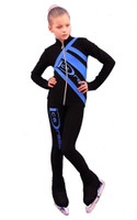 IceDress Figure Skating Outfit - Thermal - IceDress (Black with Blue)