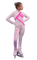 IceDress Figure Skating Outfit - Thermal - IceDress (White with Pink)