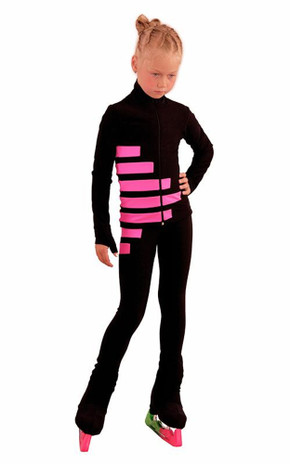 IceDress Figure Skating Outfit - Thermal - IceCode (Black with Pink)