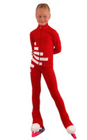 IceDress Figure Skating Outfit - Thermal - IceCode (Red with White)