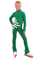 IceDress Figure Skating Outfit - Thermal - IceCode (Green with White)