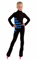 IceDress Figure Skating Outfit - Thermal - IceCode (Black with Blue)