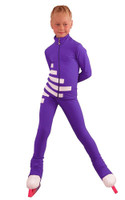 IceDress Figure Skating Outfit - Thermal - IceCode (Purple with White)