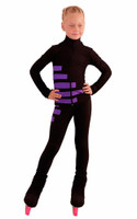 IceDress Figure Skating Outfit - Thermal - IceCode (Black with Purple)