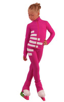 IceDress Figure Skating Outfit - Thermal - IceCode (Fuchsia with White)